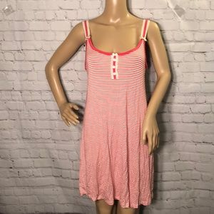 Maidenform Striped Soft Summer Nightgown Bows M